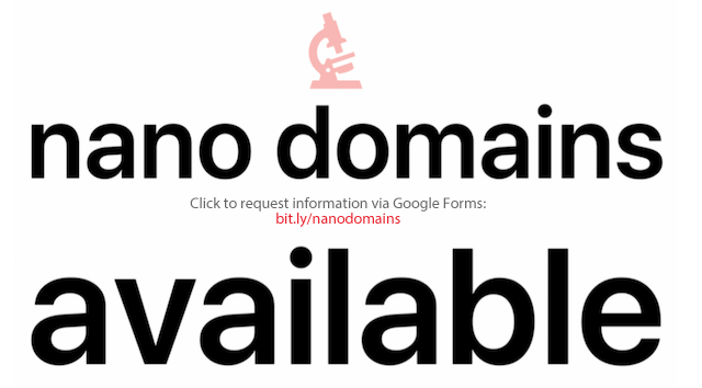 Nano Domains are Available